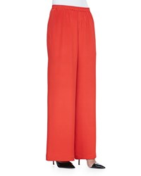 Eskandar Pull On Wide Leg Trousers Tomato Red