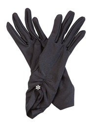 Cornelia James Nancy Satin Gloves Black