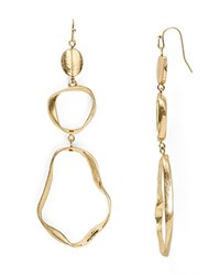 Aqua Deandra Drop Earrings Worn Gold