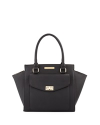 Catherine Catherine Malandrino Paige Faux Leather Satchel Bag Black