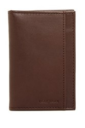 Cole Haan Classic Leather Folding Passcase Brown