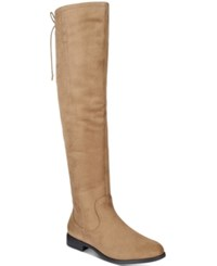 Xoxo Trish Over The Knee Boots Women's Shoes Taupe