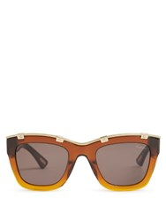Lanvin Square Frame Acetate Sunglasses Dark Brown