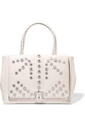 Paula Cademartori Daisy Studded Leather Tote White