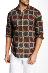 Ganesh Long Sleeve Print Shirt Beige