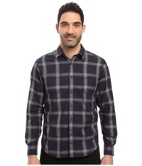James Campbell Long Sleeve Woven Chuy Plaid Navy Men's Long Sleeve Button Up