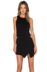 Krisa Asymmetrical Mini Dress Black