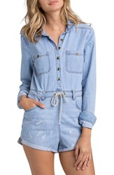 Women's Billabong 'Never Over It' Chambray Romper