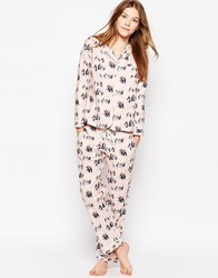 Cath Kidston Penguins Long Pyjama Set Pink