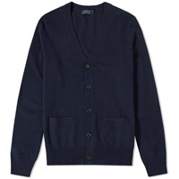 Polo Ralph Lauren Elbow Patch Merino Cardigan Blue