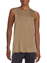 Saks Fifth Avenue Red Jersey Tank Camel