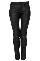 2Nd Day Crushed Metallic Skinny Jeans