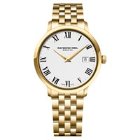 Raymond Weil 5488 P 00300 Men's Toccata Bracelet Strap Watch Gold White