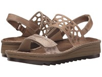 Naot Footwear Acacia Beige Snake Leather Khaki Beige Leather Women's Sandals Brown