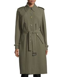 Michael Michael Kors Button Front Belted Trench Coat Juniper Women's