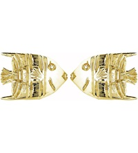 Theo Fennell 18Ct Yellow Gold Angel Fish Stud Earrings