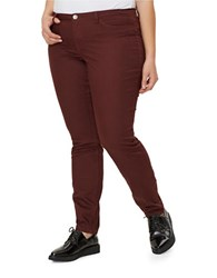 Junarose Plus Solid Slim Fit Jeans Decadent Cherry
