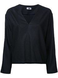 H Beauty And Youth V Neck Jumper Black