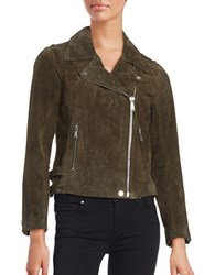 Bcbgeneration Suede Motorcycle Jacket Hunter