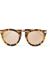 Karen Walker Harvest Superstars Round Frame Acetate And Rose Gold Tone Mirrored Sunglasses Tortoiseshell