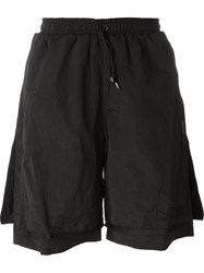 Nasir Mazhar 'Three Layered' Shorts Black