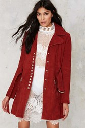 Nasty Gal The Kids Are Alright Suede Coat