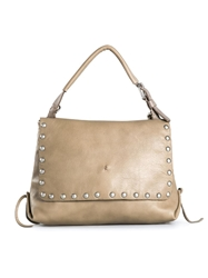 Henry Beguelin Studded Shoulder Bag Nude And Neutrals