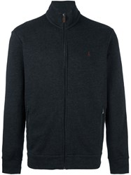 Polo Ralph Lauren Woven Zip Up Cardigan Grey