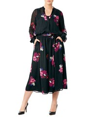 Mynt 1792 Plus Floral Palazzo Jumpsuit Black Multi