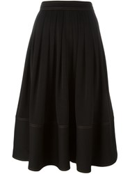 Joseph Pleated Midi Skirt Black