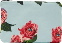 Msgm Mint And Red Eyed Roses Toilet Paper Edition Pouch