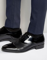 Dune Oxford Shoes In Patent Leather Black