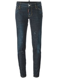 Dsquared2 Skinny Fit Jeans Blue