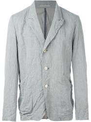 Attachment Three Button Blazer Grey