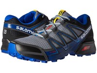 Salomon Speedcross Vario Pearl Grey Black Bright Blue Men's Shoes Gray