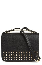 Big Buddha Studded Crossbody Bag Black