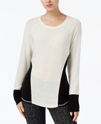 Rachel Roy Long Sleeve Colorblocked Sweater Canvas