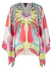 Just Cavalli Tunic White Yellow Turquoise