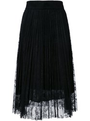 Philosophy Di Lorenzo Serafini Pleated Lace Overlay Skirt Black