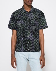 Rough And Tumble Batik Print Byron Shirt Dark Navy