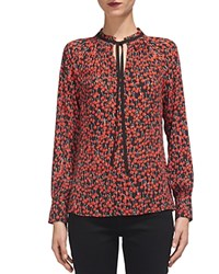 Whistles Cherry Print Blouse Red Multi