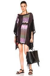 Missoni Mare Mini Caftan In Black Abstract Purple