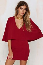 Nasty Gal Tuck And Cover Cape Dress