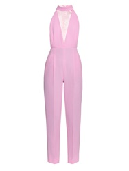 Emilia Wickstead Joni Cut Out Wool Crepe Jumpsuit