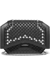 Givenchy Mini Bow Cut Shoulder Bag In Studded Black Leather