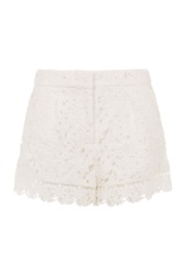Wolf And Whistle Ivory Lace Shorts White