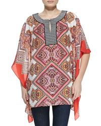 Indikka Paisley Border Cascading Tunic Medium 8