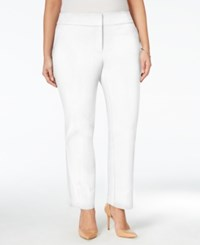 Charter Club Plus Size Zip Pocket Ankle Pants Only At Macy's Bright White