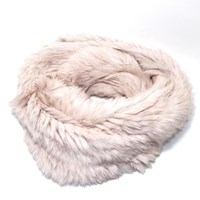 Lindo F Fur Infinity Scarf Pink Nut
