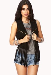 Forever 21 Out West Leather Vest